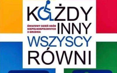 3 grudnia Światowy Dzień Niepełnosprawności